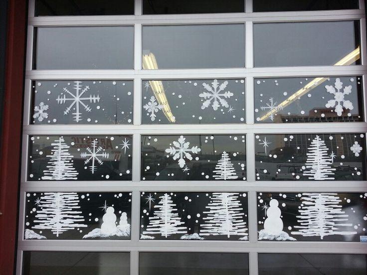 Winter Wonderland window painting @ A Salon 7, in Reno by ...