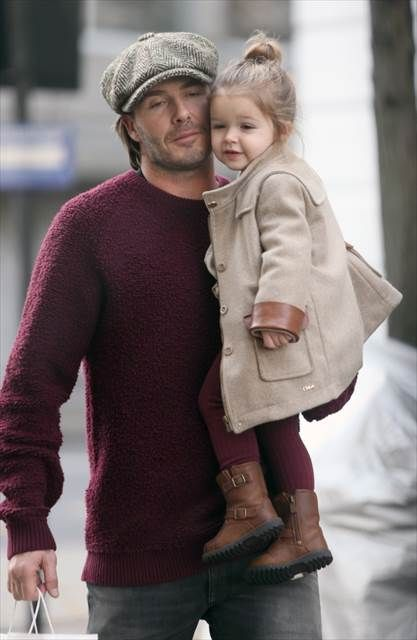 Cutest kids in Hollywood - Daily News David Beckham and his little bundle of joy, 2-year-old Harper.
