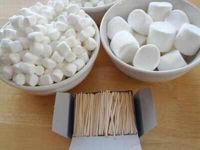 Marshmellow Toothpick Castle