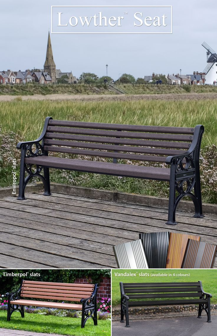 The Lowther™ seat is perfectly designed for parks, seafronts or any outdoor public spaces. This heritage style bench with cast recycled aluminium seat ends and durable slats, offers minimal maintenance and corrosion resistance. Standard fixings and delivery* are included with this product at no additional cost. (*terms and conditions apply)