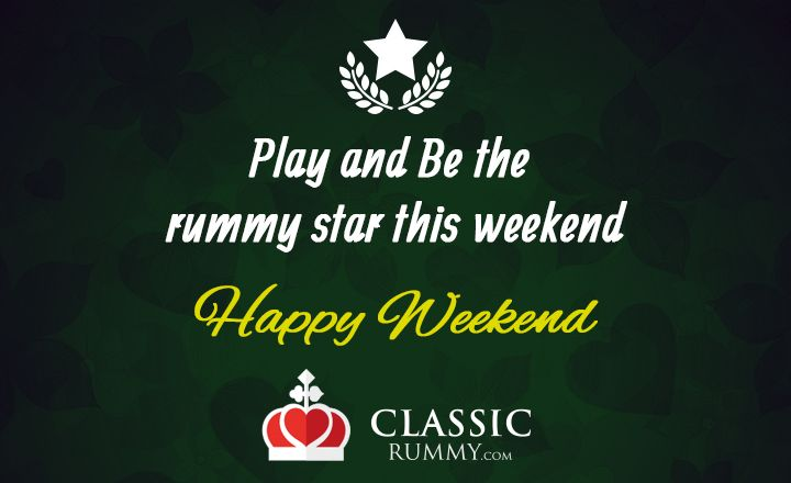TGIF! The weekend fun just begins with the game of cards! Just login and start winning.  Enjoy this week by playing rummy @ www.classicrummy.com?link_name=CR-12  #rummy #classicrummy #rummyweekend #weekend #playrummy #cards #cardgames