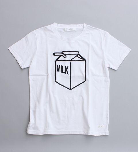 天竺 MILK Tシャツ