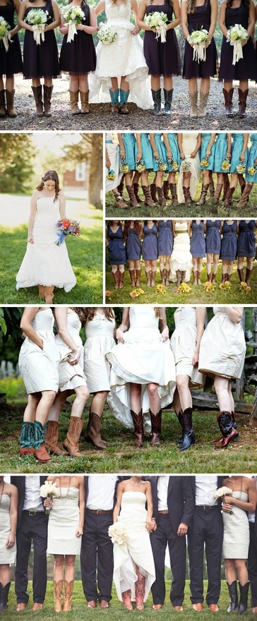 Cowboy boots with wedding dresses. Yep, seems like something I would totally do.