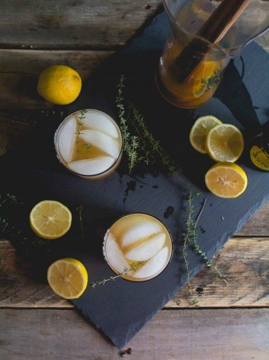 Cider, Thyme and Tonic Cocktail