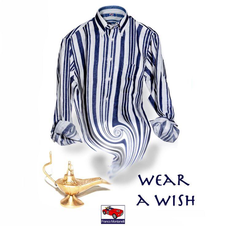 I wish a cool linen shirt under a shining sun!