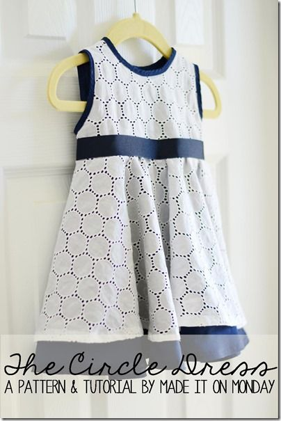 FREE The Circle Dress patter (6-9 months) and tutorial