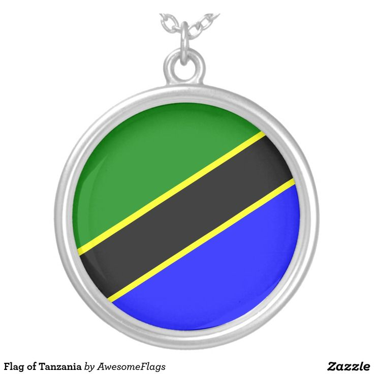 Flag of Tanzania Round Pendant Necklace