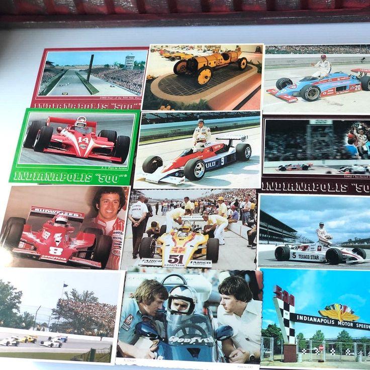 Indy 500 Postcard Lot Of 17 Estate Sale Postcards Vintage Etsy Vintage Postcards Postcard Etsy Vintage