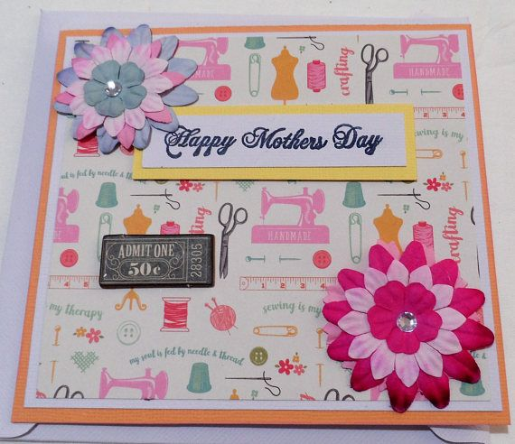 Cards  Mothers day Card  Handmade Cards  Any occasion cards