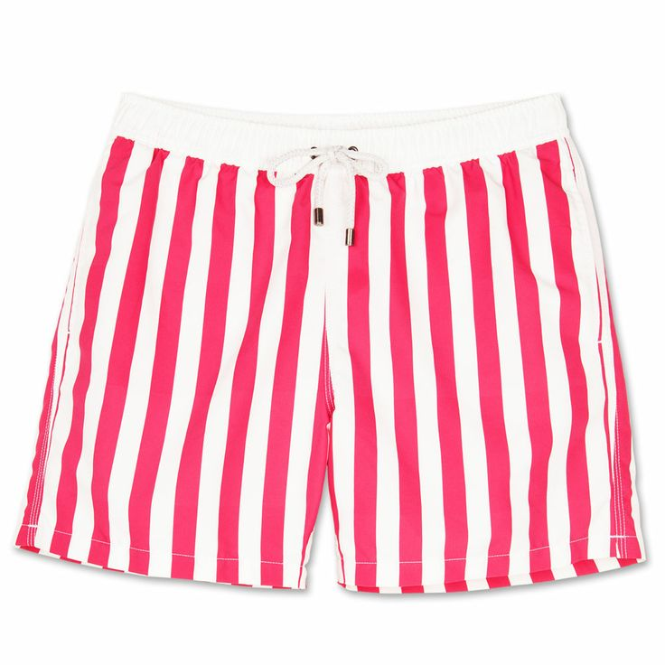 Bluemint mens swim trunks. Bluemint swimwear is perfect on the beach or at the bar, every guys essential for this summer.  Style: Arthur, Stripey Pink