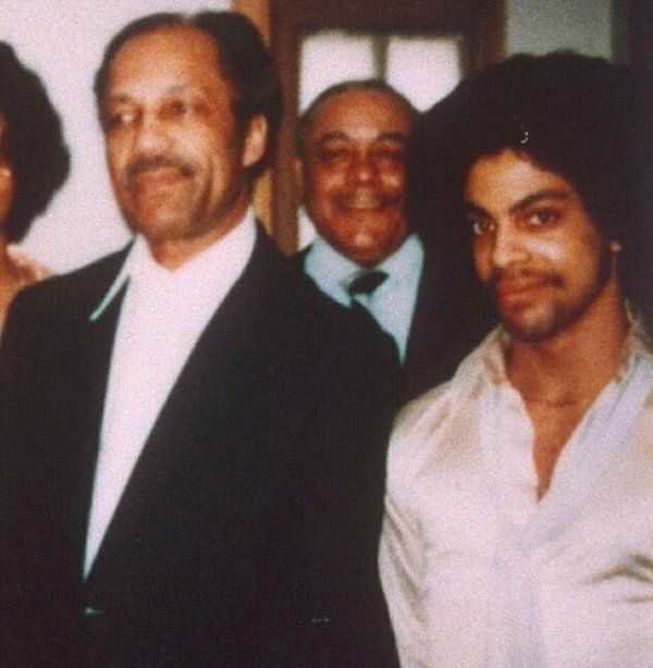Wonderful shot of Prince and his father John L Nelson.