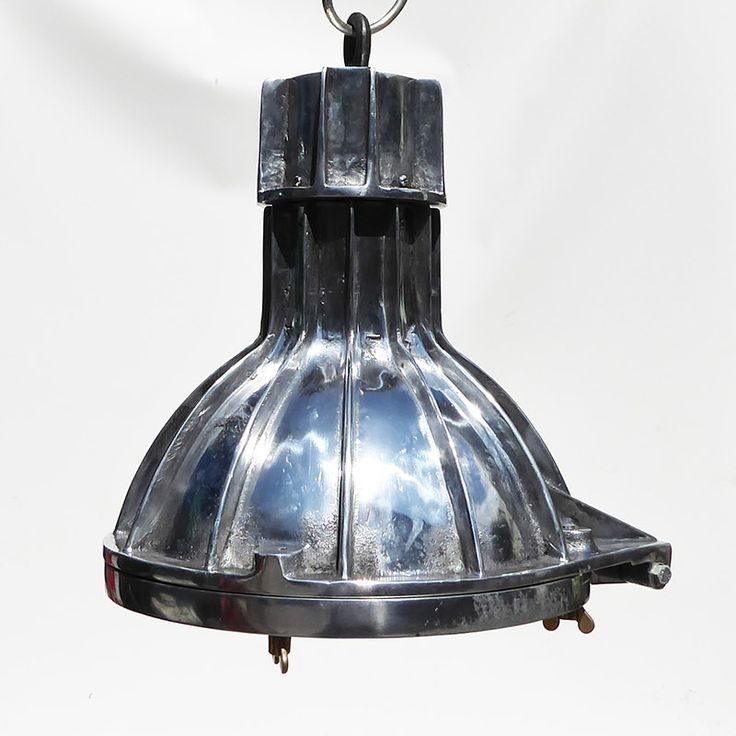 Original aluminium reclaimed ships cargo light british alone talking piece pendant light or looks · pendant lightsgainbulbscountervintage