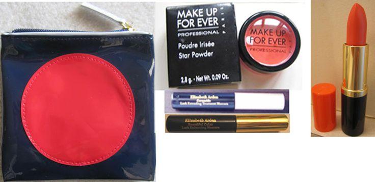 Estee Lauder black mascara Lipstick Melon #25 orange MAKEUP FOR EVER STAR POWDER #esteelauder