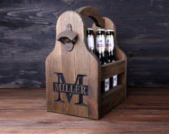 Pack personalizado madera seis portador de cerveza por GoodWoodGift