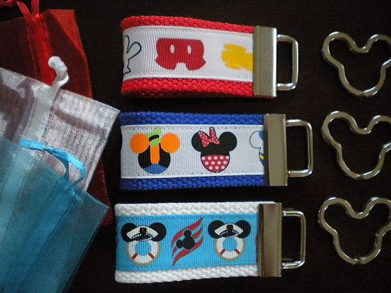 Fe gifts set of 10 deluxe mini mouse ribbon key fobs for Worst fish extender gifts