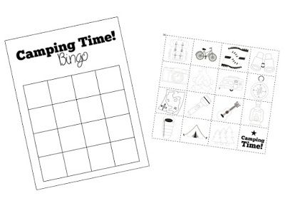 Mambiatka | English for kids | Resources for teachers and parents: Camping Time! BINGO