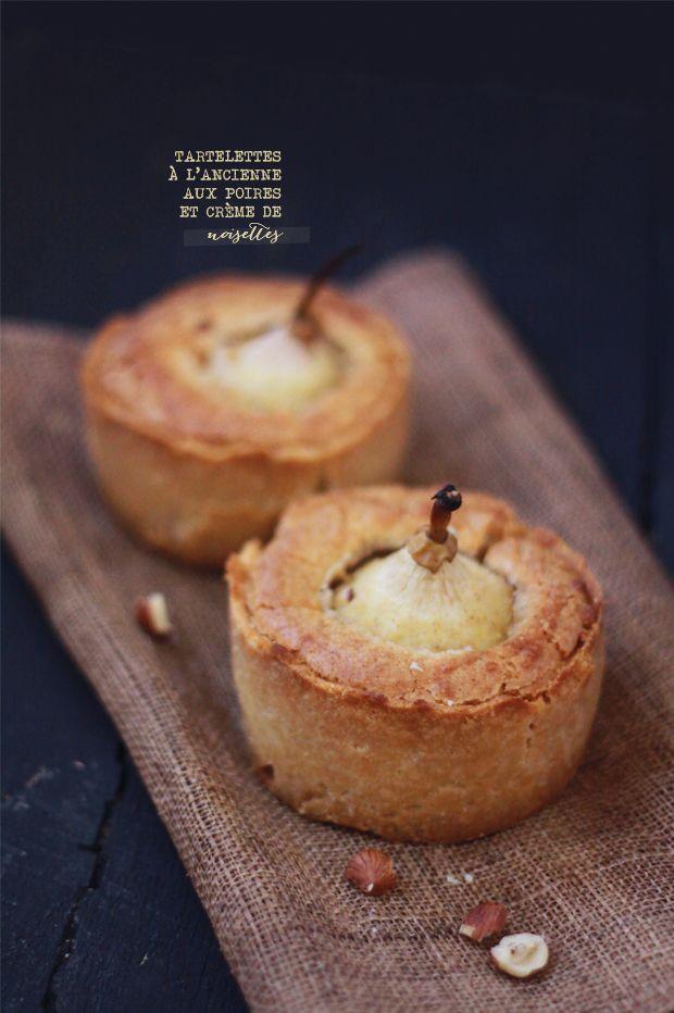 Pear and hazelnut tart / Tartelettes à l'ancienne aux poires et à la crème de noisette