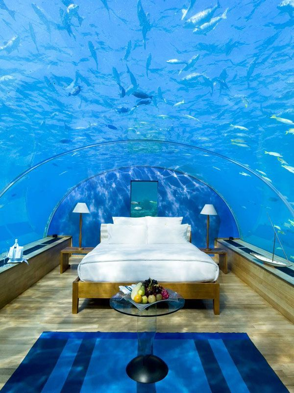 9 Spectacular Underwater Hotels #refinery29 http://www.refinery29.com/underwater-hotels