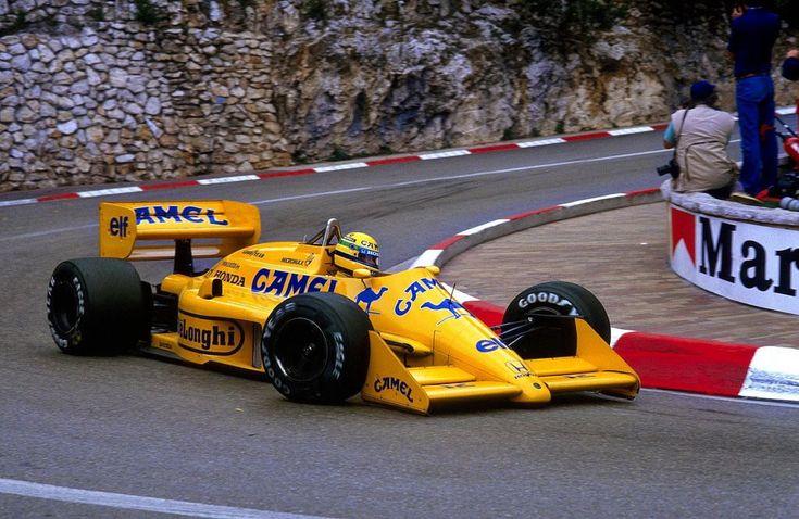 Ayrton Senna, Lotus 99T - Monaco, 1987.