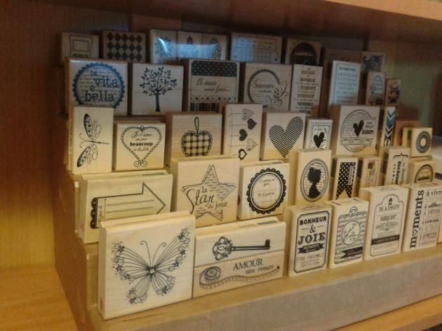idée rangement tampons bois | Esprit Scrapbooking