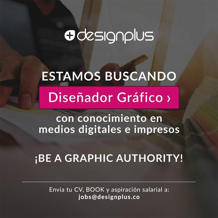 #TrabajoSíHay diseñadores!  En DesignPlus buscamos #diseñadorgráfico que cumpla con estos requisitos:  Experiencia mínima de un año. Disposición para aprender y crecer profesionalmente. Indispensable, ser un apasionado del mundo digital.  Si cumples con el perfil y quieres ser parte del #TeamPlus envíanos tu CV, BOOK y aspiración salarial a jobs@designplus.co