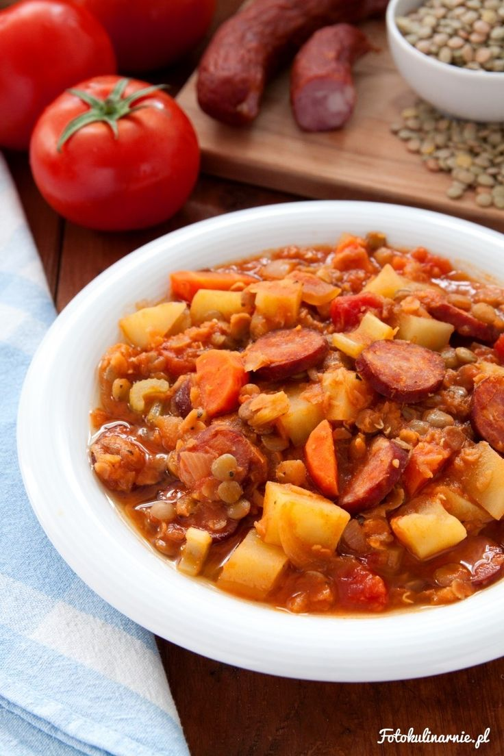 Lentil & Sausage One-pot Stew.