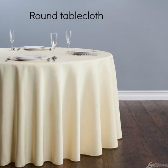 Com Customers Own Material Round Table Cloth Your Own Etsy
