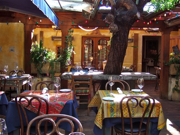 Casanova Restaurant In Carmel~by~the~sea ~ The Outdoor Dinning Patio Has