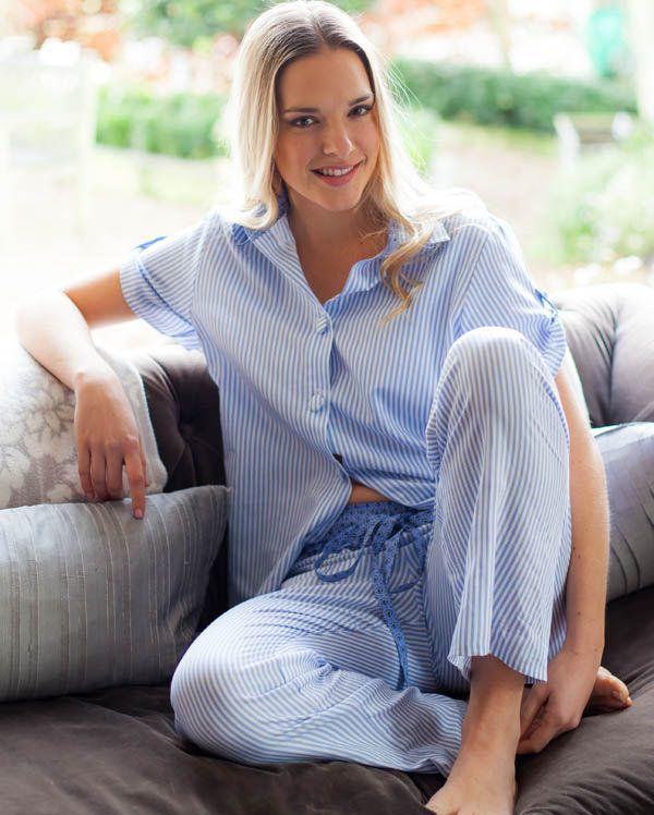 Melissa Short Sleeve Stripe Pyjamas