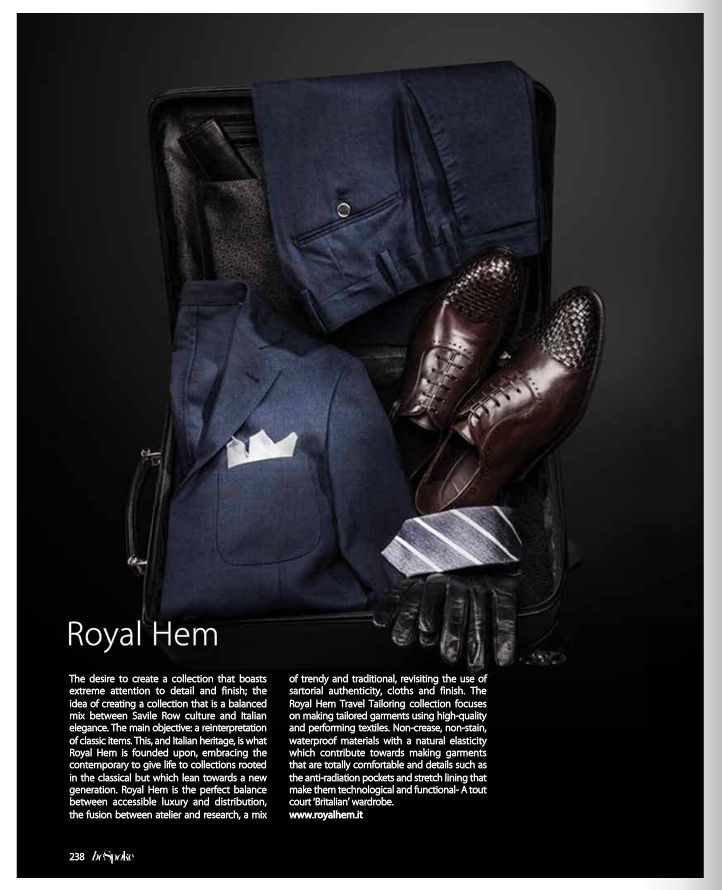 Royal Hem on the BeSpoke Magazine The ROYAL HEM TRAVEL TAILORING COLLECTION focuses on making tailored garments using high-quality and performing textiles. #royalhem #travel #businessmen #madeinitaly #bespoke www.royalhem.it