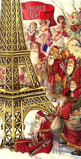4987 best old fashioned christmas images on pinterest xmas merry eiffel tower santas and angels christmas card from germany m4hsunfo Images