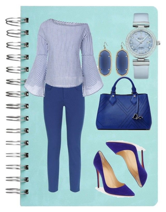 """""""blouses"""" by sissy-30 ❤ liked on Polyvore featuring Escada Sport, Diane Von Furstenberg, Christian Louboutin, OMEGA and Kendra Scott"""