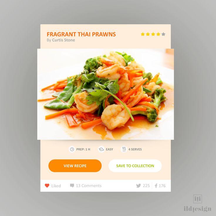 Recipe UI Design
