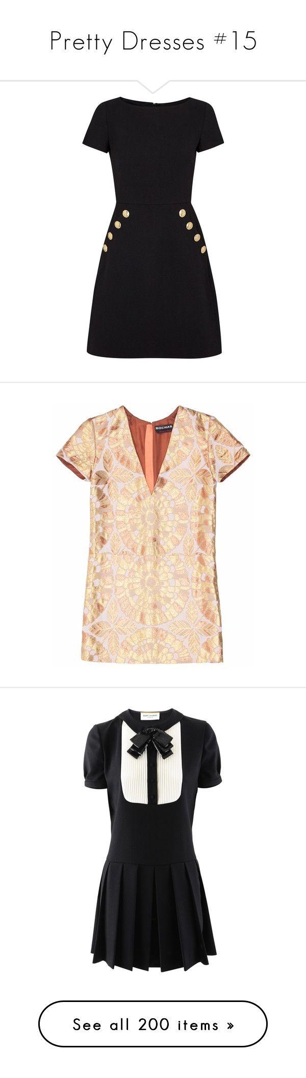 """Pretty Dresses #15"" by emma-oloughlin ❤ liked on Polyvore featuring dresses, vestidos, black zipper dress, wool dress, black dress, black embellished dress, black wool dress, tops, beige cocktail dress and v neck mini dress"
