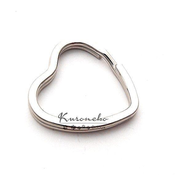 1 base portachiavi brisè cuore color argento di KuronekoBijoux