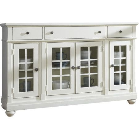 Show Off Heirloom Dinnerware In The Dining Room With This Glass Paneled Sideboard Then Let It Display A Delicious Brunch Buffet Or Potluck Spread At Your