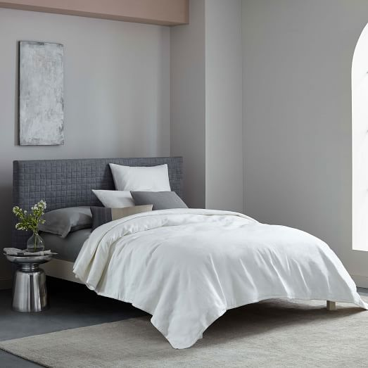 headboard westelm elm headboard quilted headboard beds linen king bed