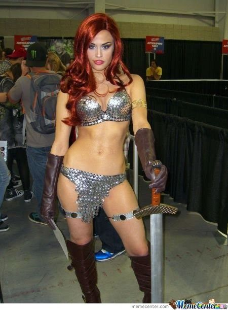 I don't have the body for this, but it's an AMAZING costume! (Red Sonja if you didn't know lol)