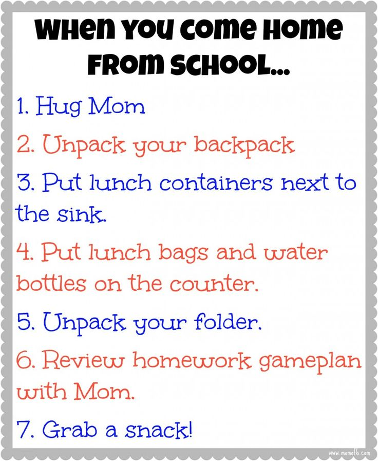 25 best ideas about after school schedule on pinterest