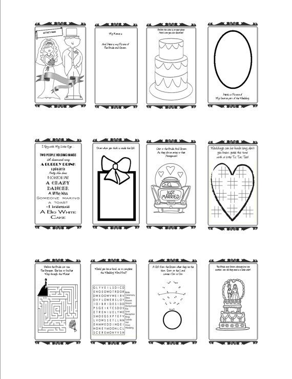 Printable wedding activity pages for kids