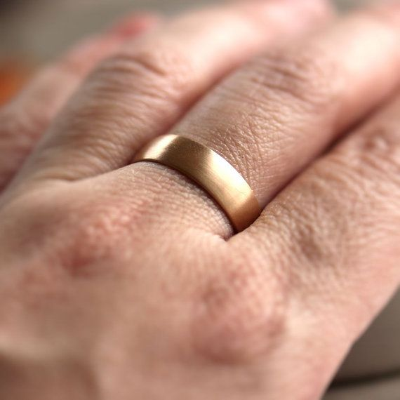 Wide Rose Gold Men's Wedding Band Recycled 14k Rose by TheSlyFox