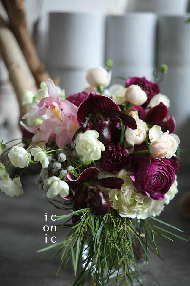 Paphiopedilum,Cymbidium,Rose,wedding bouquet,iconicflower