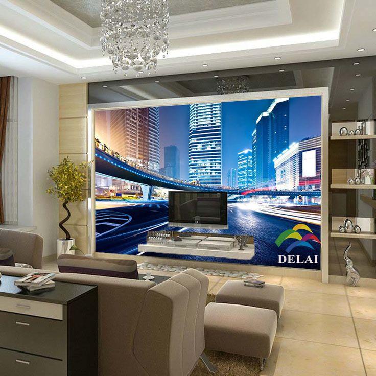 lamps living room lighting ideas dunkleblaues. Custom 3D Modern Photo Wallpaper Murals For Living Room Three Dimensional Space Mural Night City Lamps Lighting Ideas Dunkleblaues