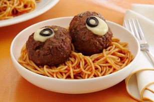"Spaghetti and ""Oozing Eyeballs""              RecipesTips & IdeasCommunityCheeseProducts  Consumer Alert: Kraft Foods announced today it is voluntarily recalling...read more     homerecipesspaghetti and ""oozing eyeballs""    Spaghetti and ""Oozing Eyeballs"""