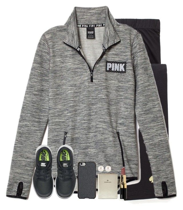 """Feelin casual."" by maliaackermann ❤ liked on Polyvore featuring Kate Spade, NIKE, Agent 18, FOSSIL, Henri Bendel and Bobbi Brown Cosmetics"