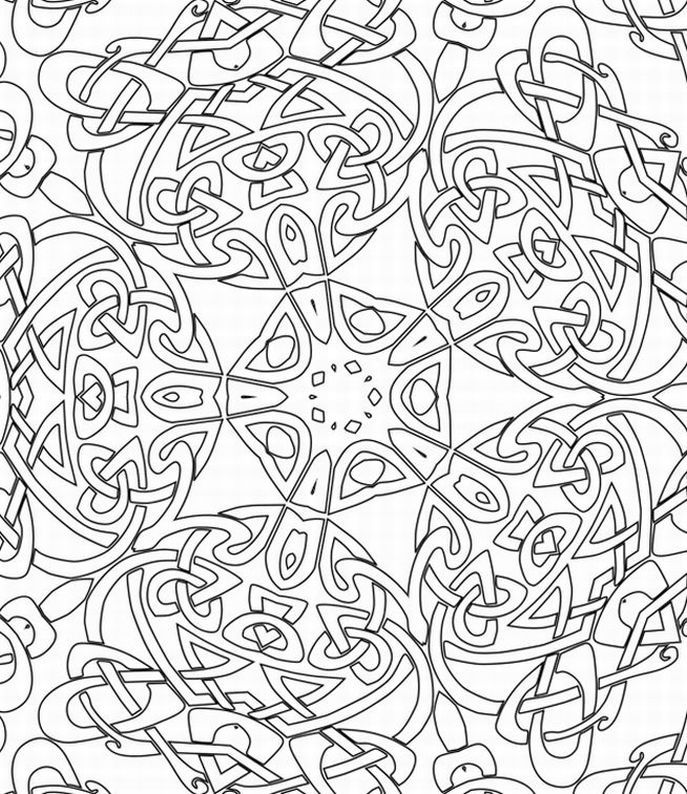 Abstract Halloween Coloring Pages : Printable abstract coloring pages for adults