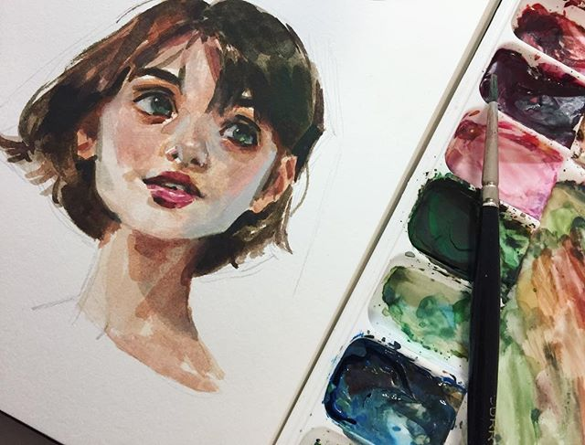 Photo study in gouache on Strathmore's 500 series mixed media paper ??The …