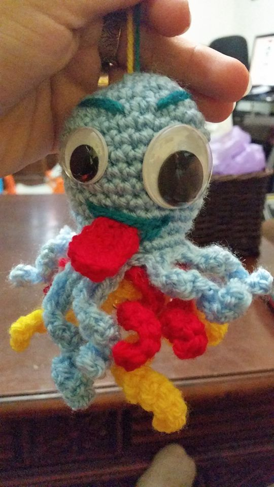car key chain doll amiguruni octopus