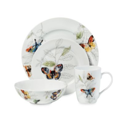 Buy Mikasa® Garden Butterfly Dinnerware Set from at Bed Bath u0026 Beyond. The timeless design of this Mikasa® dinnerware set is perfect for both casual and ...  sc 1 st  Pinterest & 102 best Dinnerware images on Pinterest | Dinner ware Cutlery and ...