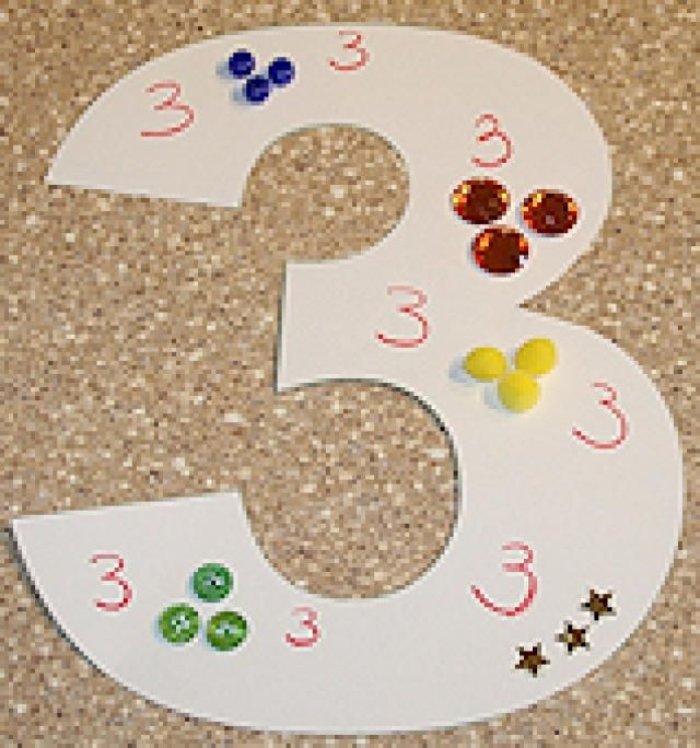 Fun Crafts Toddlers and Preschoolers Will Love: 3-Dimensional Numbers Collage